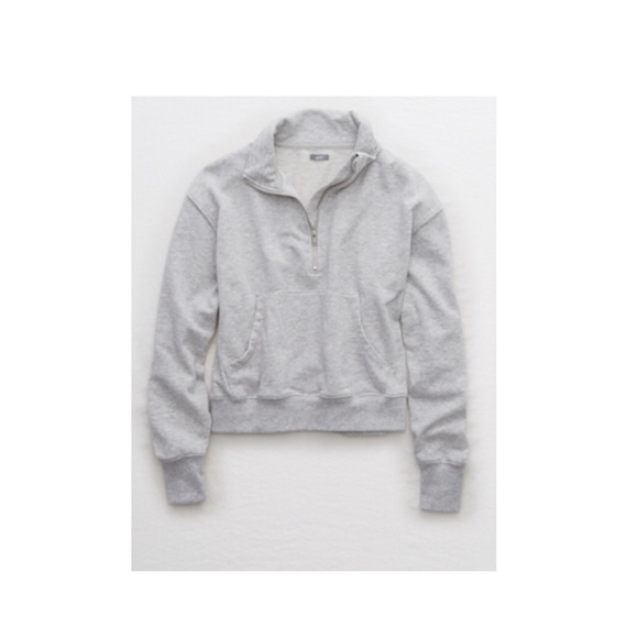 Aerie Tops Quarter Zip Beach Fleece Poshmark